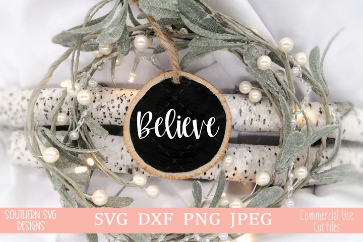 Believe svg-Christmas Ornament SVG-Christmas svg-Cricut svg