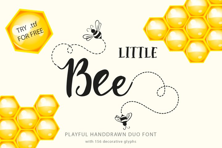 Little Bee duo font