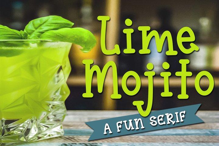 Lime Mojito - A Fun Serif Font