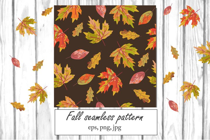 Autumn digital paper, Fall seamless pattern, png