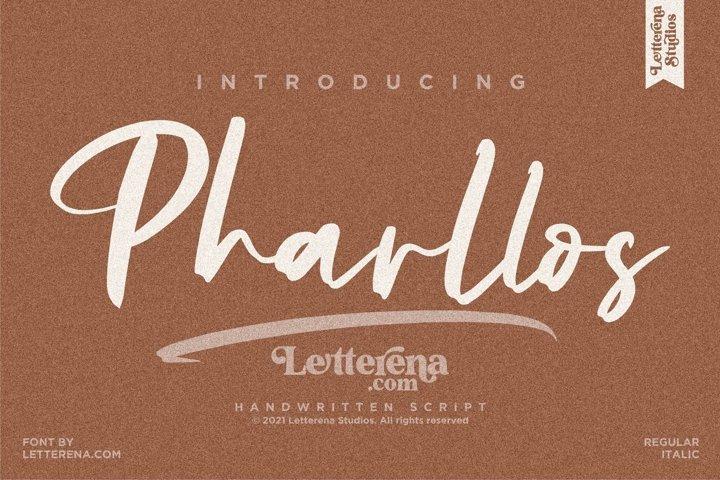 Pharllos - Handwritten Script Font