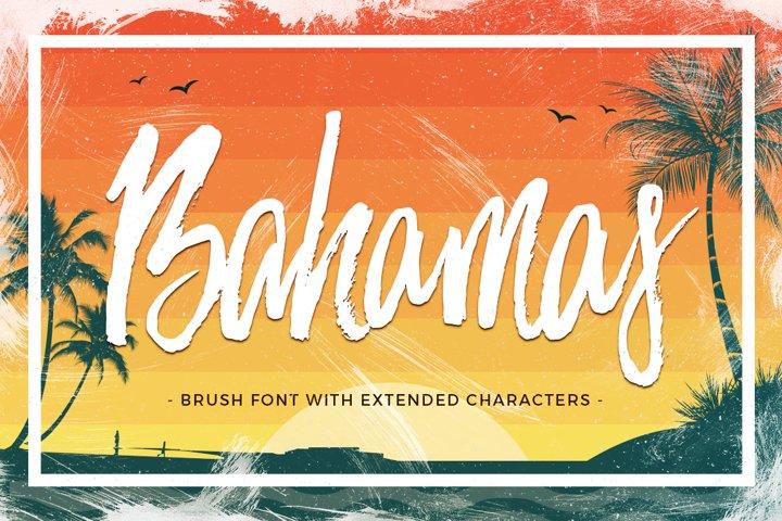 Bahamas Brush Font - Free Font of The Week Font