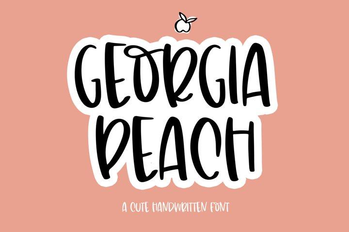 Georgia Peach - A Fun Handwritten Font