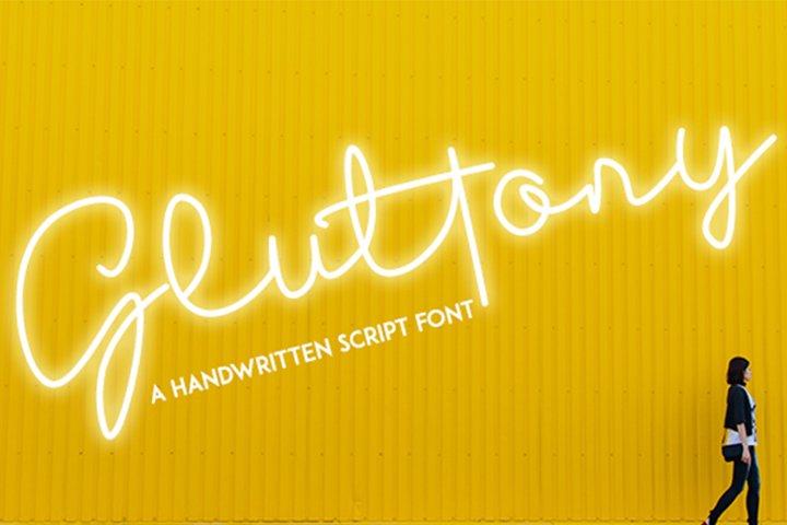 Gluttony - Script Font