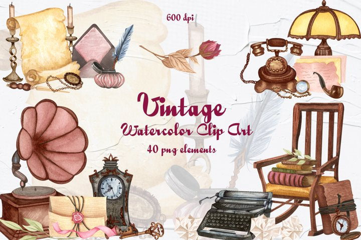Vintage Objects Clip Art