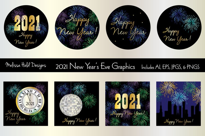 New Years Eve 2021 Graphics