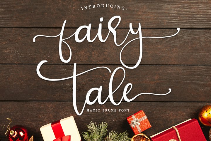 fairy tale - magic brush font