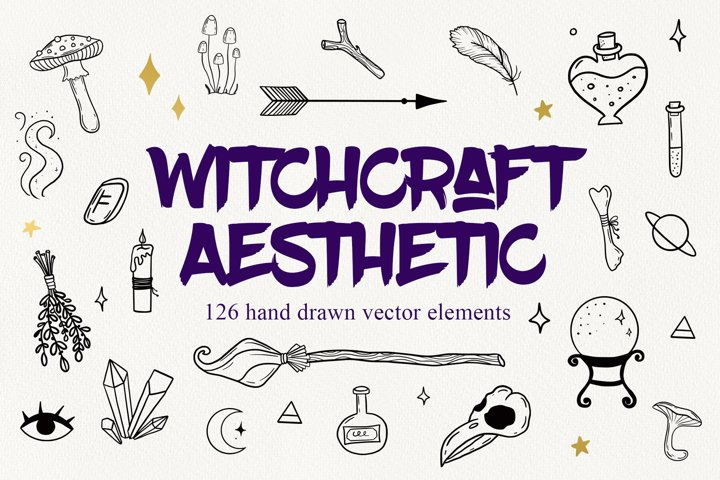 Witchcraft Aesthetic vector clipart