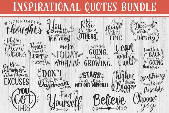 SALE! 20 Inspirational quotes bundle, motivational Quotes