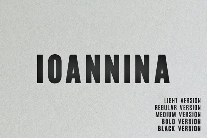 Ioannina Sans Serif Family