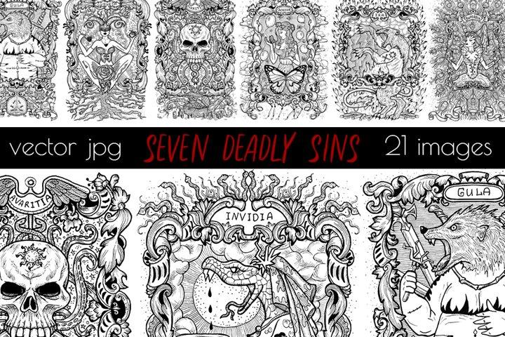 Seven Deadly Sins Art