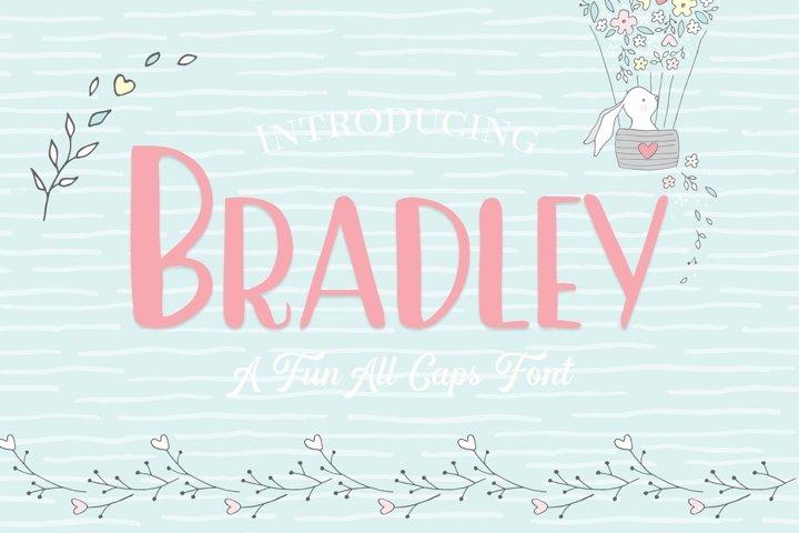 Bradley- A Fun Caps Font