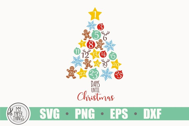 Christmas Svg, Countdown Svg, Star Svg example