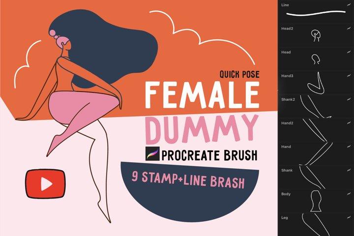 Procreate brush Female dummy