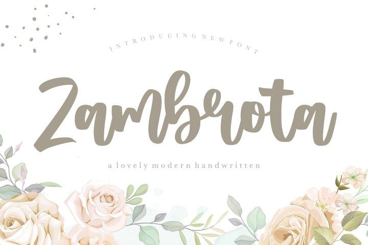 Zambrota Lovely Modern Handwritten Font