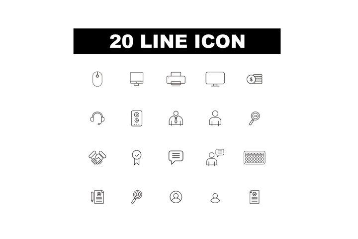20 Line Icon
