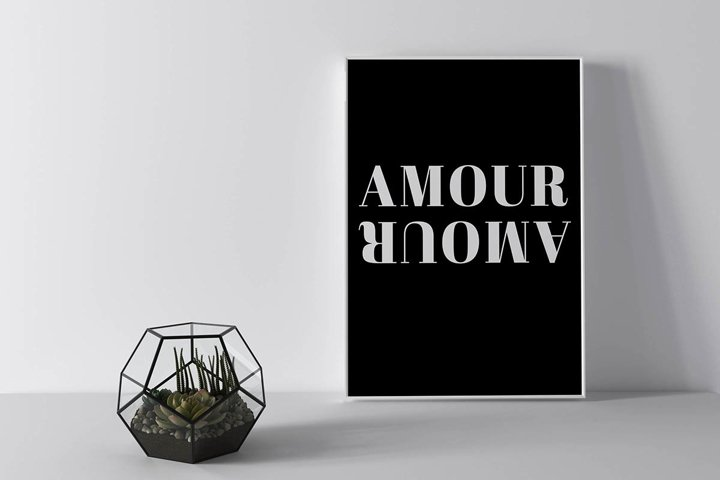Typography Wall Art, Aesthetic and Minimalist quote wall art
