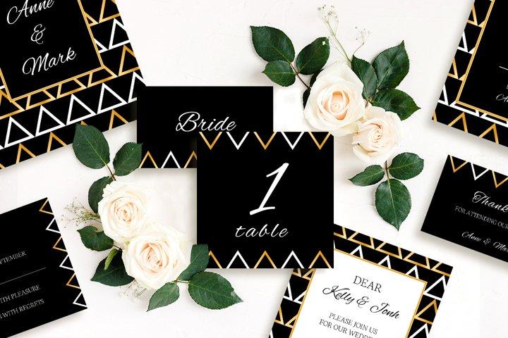 Stylish geometry wedding collection