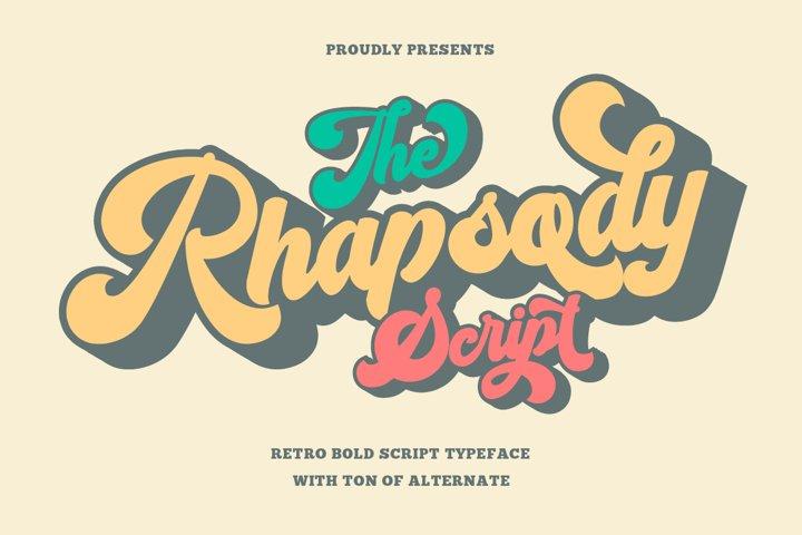 Rhapsody - Retro Bold Script