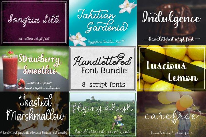 Handlettered Font Bundle - 8 Script Fonts