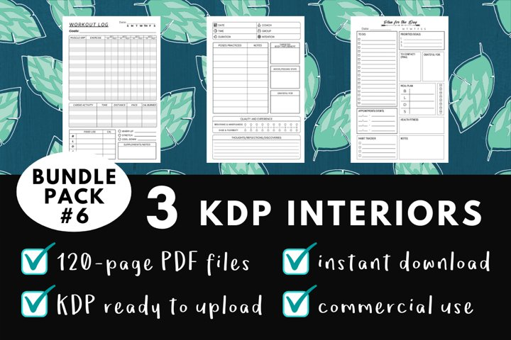 KDP Interior Pack #6 - 3 Templates!