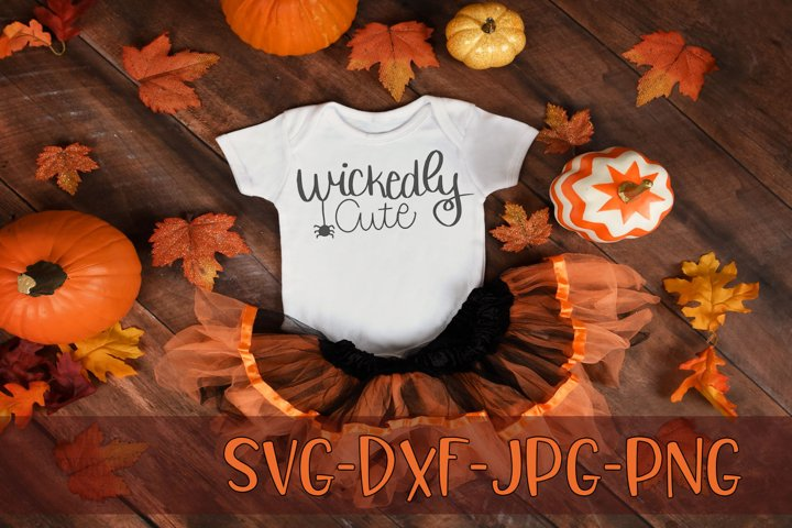 Wickedly Cute, Handwritten, Halloween, SVG