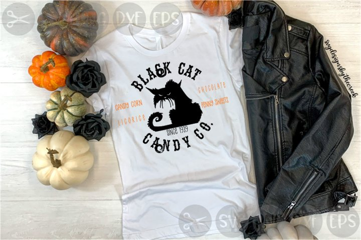 Black Cat Candy Co, Sweets, Halloween, Cut File, SVG