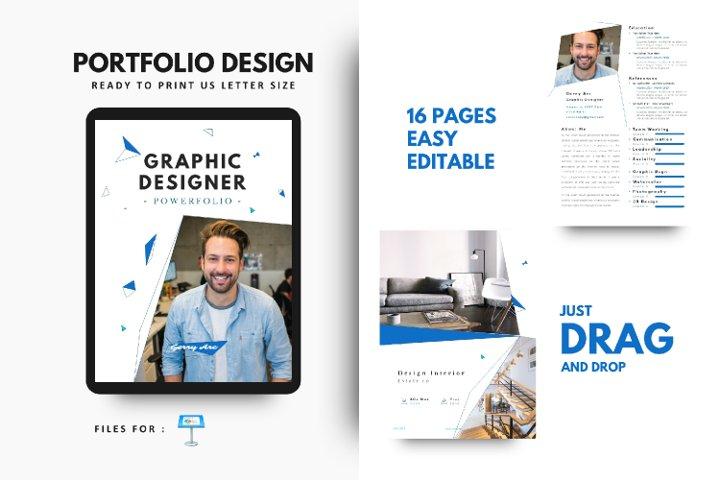 Graphic Designer Portfolio Template Keynote