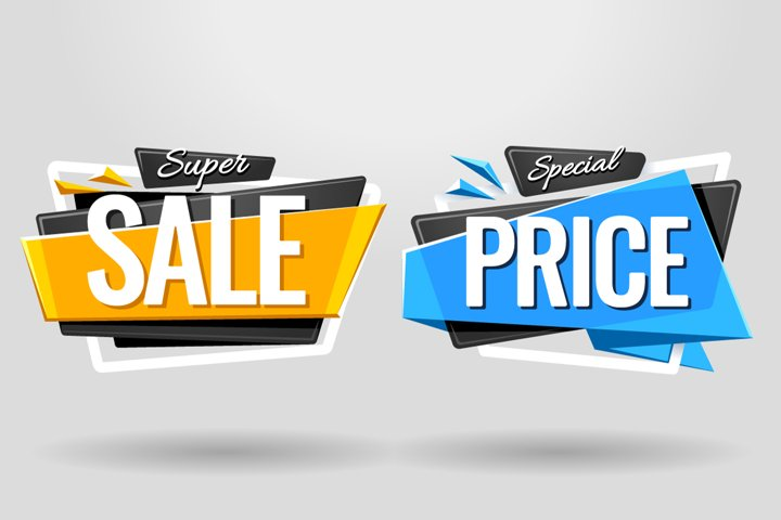 SALE BANNERS   Material Design - Free Design of The Week Design1