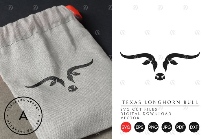 Texas Longhorn Bull SVG