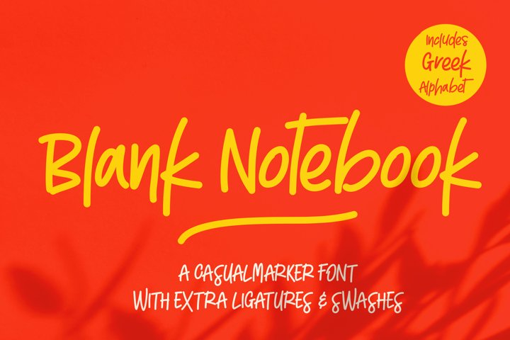 Blank Notebook & Extras