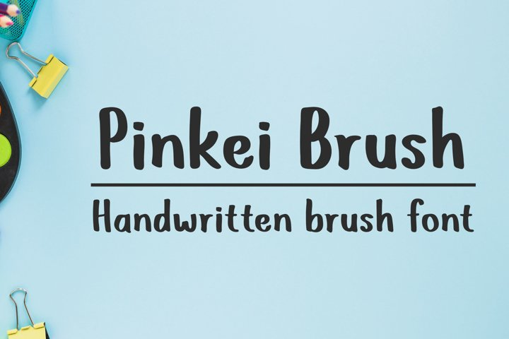Pinkei Brush - Handwritten Brush Font