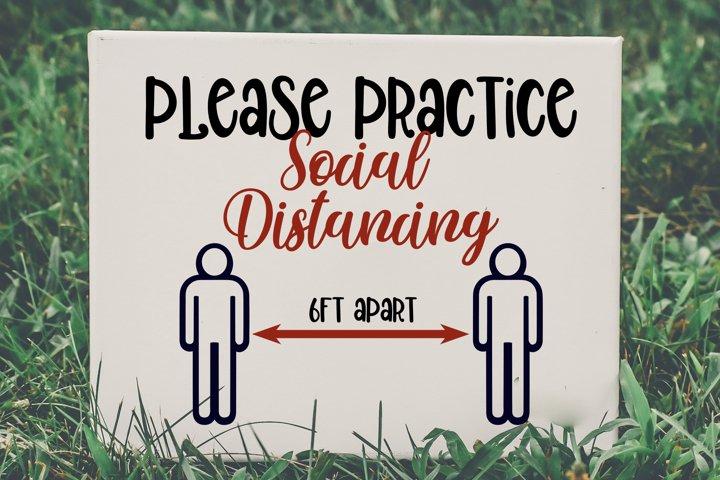 Please Social Distance, 6 feet apart svg, 6 ft distancing