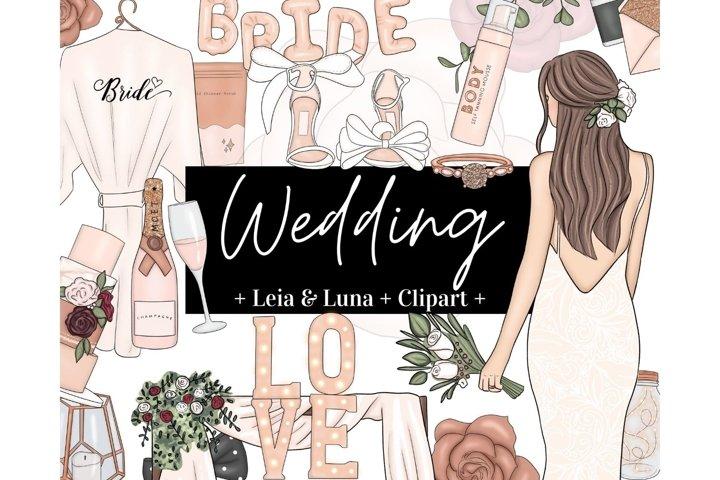Wedding Rose Gold Beige Fashion Girl Clipart