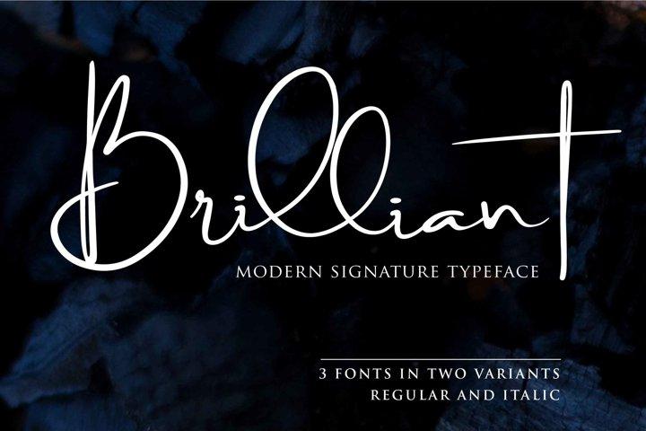 Brilliant - 3 Signature Font