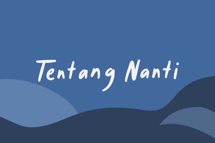 Tentang Nanti - Handwritten Font