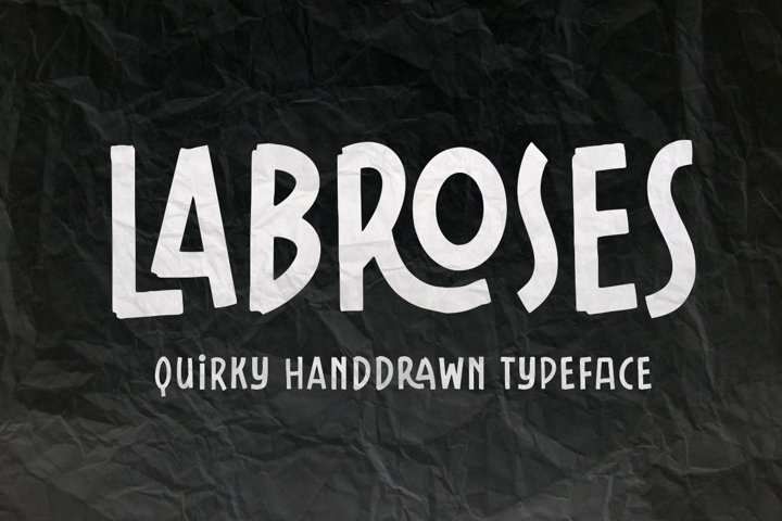 Labroses Quirky Typeface