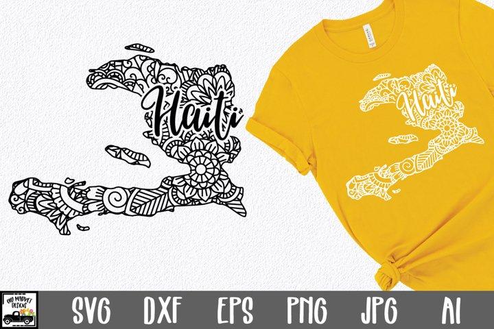Haiti SVG File - Haiti Mandala Design