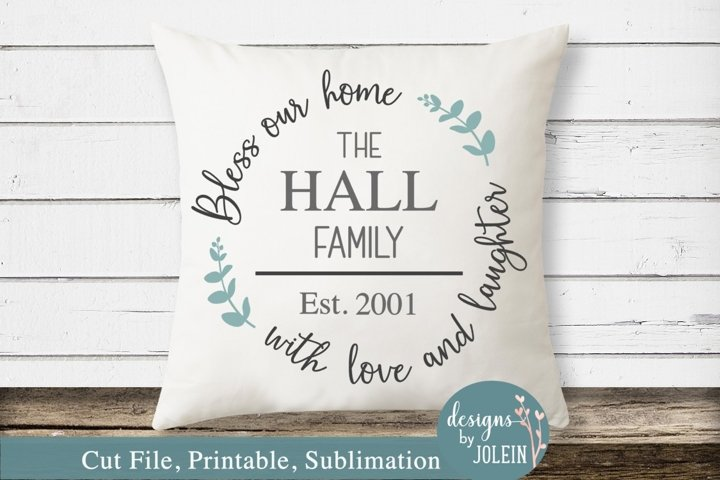 Bless Our Home SVG, png, eps, sublimation, printable