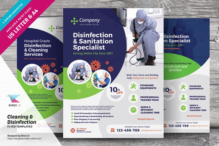 Cleaning & Disinfection Services Flyer Templates