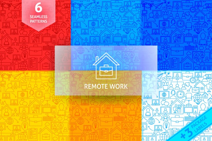 Remote Work Seamless Patterns