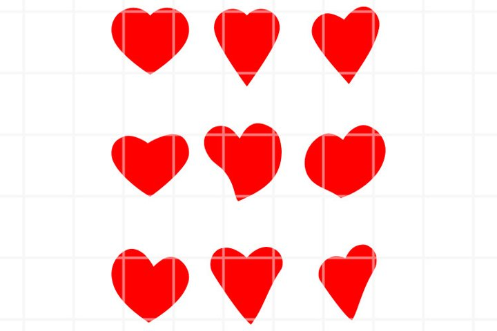 Heart or love SVG set for cut. Romance illustration.