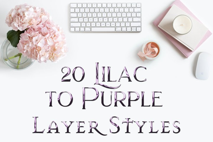 20 Lilac to Purple Layer Styles for Photoshop