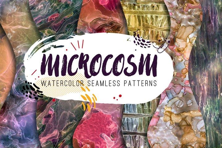 Microcosm - 25 watercolor seamless patterns