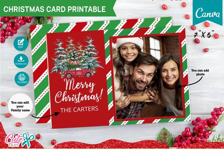 Christmas card Template editable with Canva
