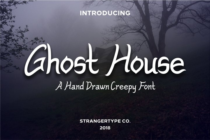 Ghost House - Halloween Font