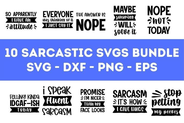 10 Sarcastic SVG Bundle Vol. 1