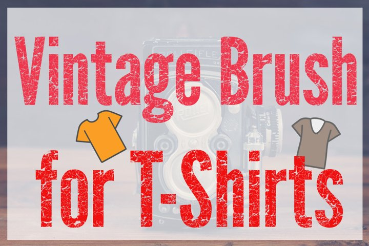 Vintage Distressed T-Shirt Effect