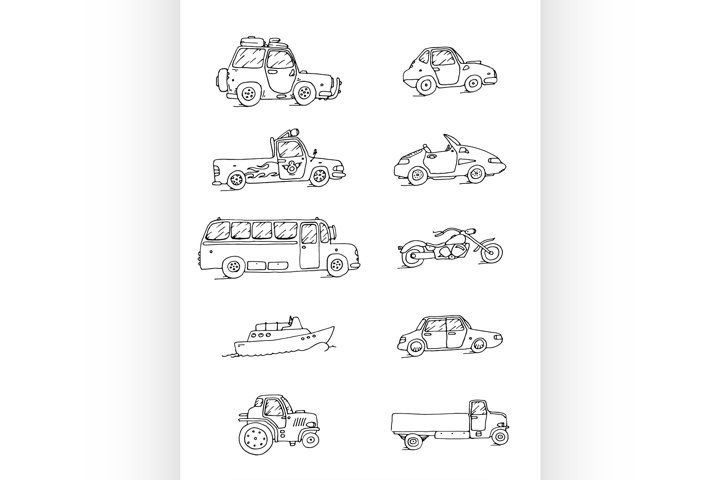 Transport Sketch Set