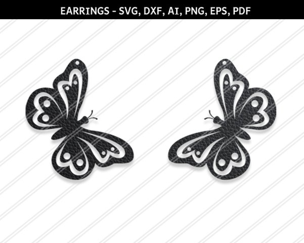 Butterfly earrings svg , Jewelry svg, leather jewelry